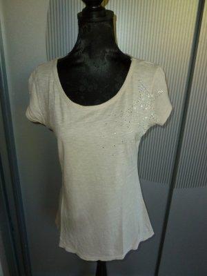 T-Shirt Shirt beige Pailletten Stern