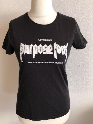 T-Shirt Shirt Fanshirt Justin Bieber schwarz Gr. M
