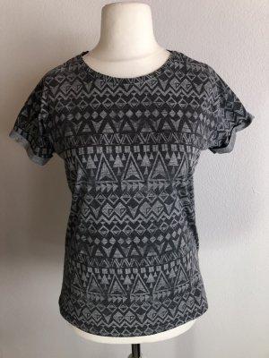 T-Shirt Shirt locker Azteken grau Gr. M