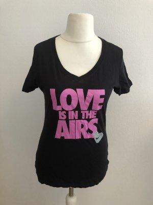 T-Shirt Shirt Oberteil schwarz Nike mit Print Gr. M