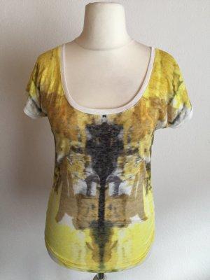 T-Shirt Shirt Printshirt Basic creme weiß