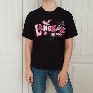 T-shirt Shirt Tshirt Top Schwarz rosa weiß M tanktop croptop pulli pullover