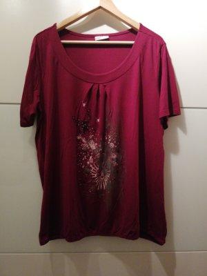 T-Shirt Shirt Weinrot