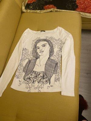 Sisley Camisa batik blanco-negro