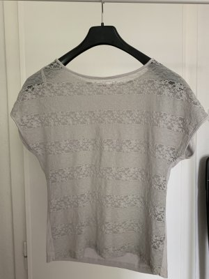 T-Shirt   Spitze   Grau   Größe S   Orsay