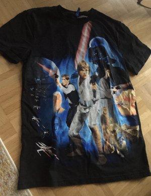 H&M Camiseta negro-azul