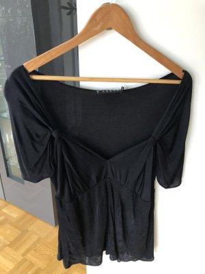 T-Shirt tiefer Ausschnitt schwarz 36