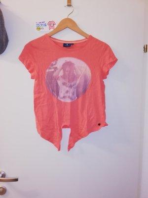 T Shirt tom tailor rosa orange