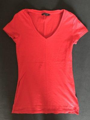 T-Shirt Tommy Hilfiger rot XS Baumwolle mit Logo-Stickerei