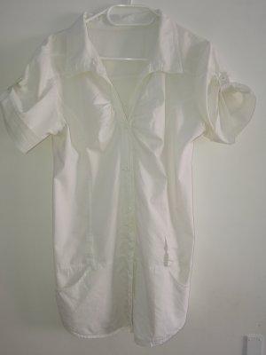 Chemise à manches courtes blanc coton