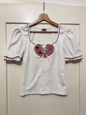 Country Line T-Shirt white-red
