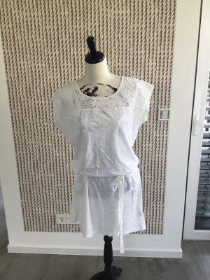 Pink loop Vestido tipo túnica blanco