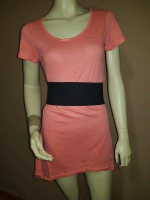 T shirt Tunika mit Gürtel, korallfarben NEU Größe 34