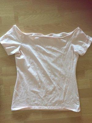 T Shirt U-Boot Ausschnitt in rose Gr. 40