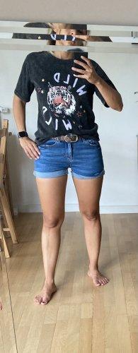 by clara Paris Print Shirt black-lilac