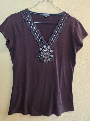 Street One V-Neck Shirt dark brown
