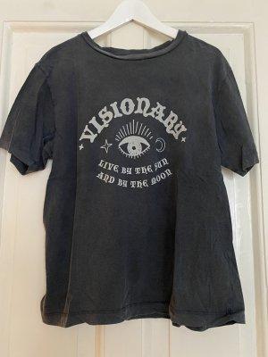 BDG T-shirt grijs Katoen