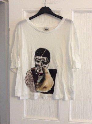Acne T-shirt blanc cassé