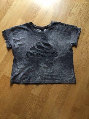 Adidas Sportshirt grijs-zwart