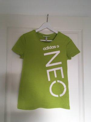 Adidas NEO T-Shirt lime yellow cotton