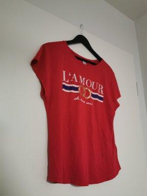 Amisu T-shirt imprimé rouge