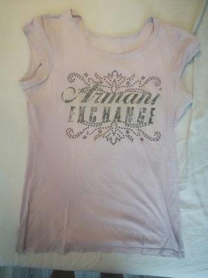 Armani Exchange T-shirt jasny fiolet