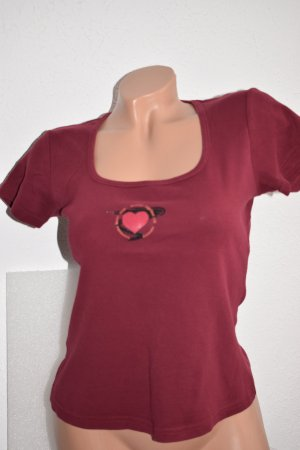 Bamboo T-shirt bordeaux