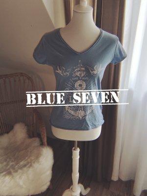Blue Seven T-shirt jasnoniebieski-biały