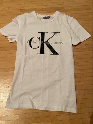 Calvin Klein Jeans T-shirt wit-zwart Katoen
