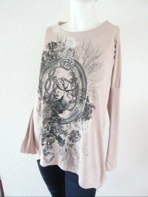Cream Lang shirt stoffig roze