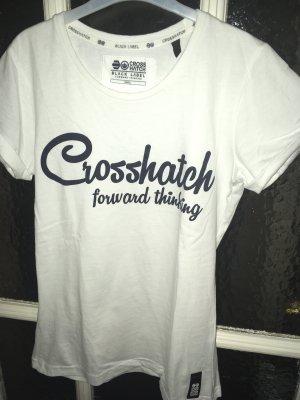 T-Shirt von Crosshatch Gr.S, weiß
