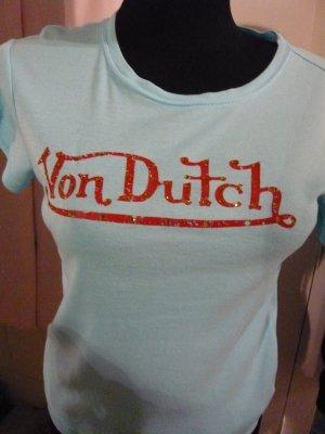 T- Shirt Von Dutch in Gr. 34/36 türkis