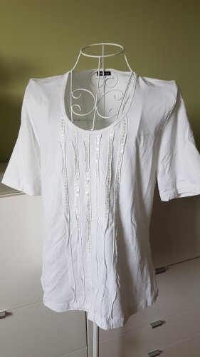 T-Shirt von Gerry Weber in Gr. 38/40 Weiß mit Pailletten