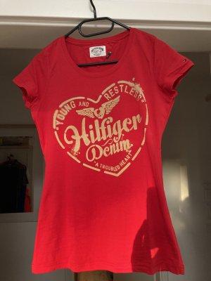 Hilfiger Denim T-shirt rosso-rosso mattone
