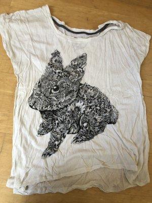 Iron fist T-shirt blanc-noir