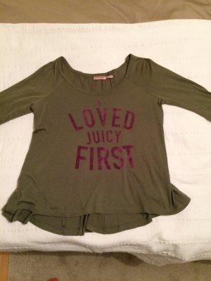T-Shirt von Juicy Couture mit 3/4 Arm in olive