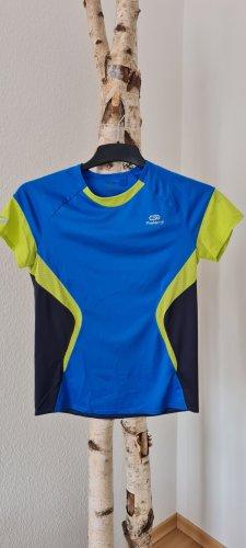 Kalenji T-shirt de sport jaune-bleu