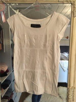 T-Shirt von Mango in weiß mit Pailletten Größe  XS