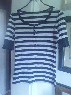 Marc O'Polo T-shirt bianco-blu scuro