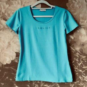 More & More T-shirt azzurro Cotone