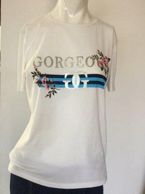 Only T-shirt biały Bawełna