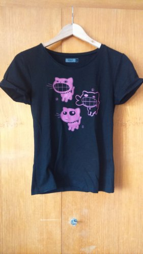 T-Shirt von Only mit Katzen
