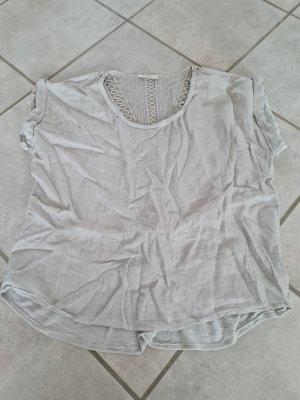 Pink T-shirt grigio chiaro-crema