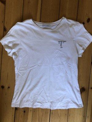Samsøe & samsøe T-shirt w kolorze białej wełny Bawełna