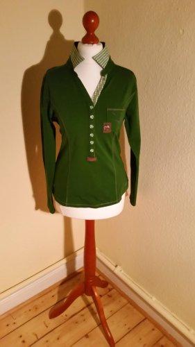 Spieth & Wensky V-Neck Shirt forest green cotton