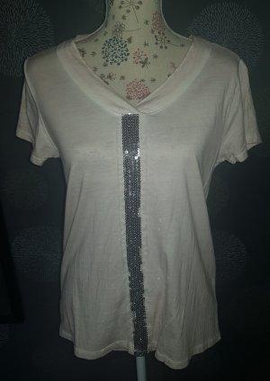 Flame T-shirt argenté-rosé