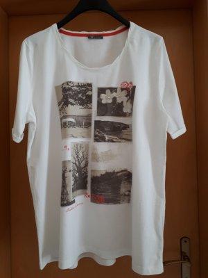 Via appia due T-shirt bianco sporco Cotone