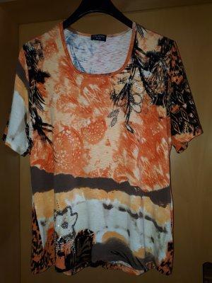 Via appia due T-shirt arancione Viscosa