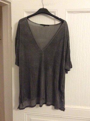 Victoria Beckham V-Neck Shirt dark grey-grey