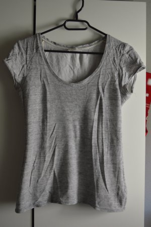Zara T-Shirt silver-colored-grey